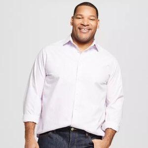 NWT Men's Tall Stripe Standard Fit Shirt